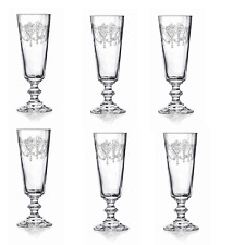 Set of 6 Etched Glasses French Style Boxed 21 cm Gift Drinking Tall Schooners