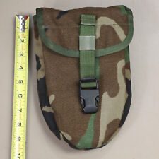 US Army Woodland Camo MOLLE E-Tool Shovel Carrier Cover Trifold for Gerber