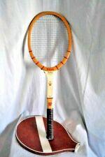 "Vintage Wilson Tennis Racquet The Jack Kramer Autograph Wooden 4 1/2"" Stratabow"