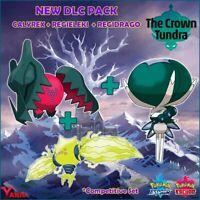 Shiny Calyrex Regieleki Regidrago Legendary Pack DLC Crown Tundra Pokemon Sword