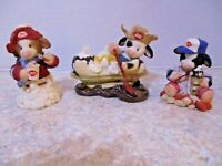 Lot of 3 Marys Moo Moos Enesco DQ cow Dairy Queen Collectibles