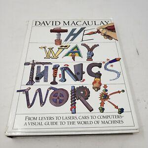 The Way Things Work Book by David Macaulay 1988 Educational Encyclopedia Signed
