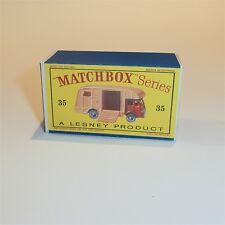 Matchbox Lesney 35 a Horse Box empty Repro D style Box