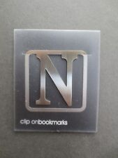 BOOKMARK Letter Initial N Alphabet Steel Clip On Gift Present Christmas Birthday