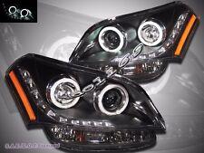 For 10-11 Soul Black CCFL Angel Eyes Halo Rim LED Strip Projector Headlights