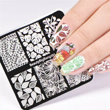 Nail Art Stamping Plate Image Decoration Winter Fern Leaf Flowers Fall Corn BB21