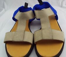 Maison Martin Margiela MM6 Gray And Blue T-Strap Elastic Back Sandals Sz 39 (008