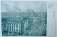 VINTAGE 1907 UNDIVIDED POSTCARD MILL STREET SCENE WATERTOWN NY NEW YORK
