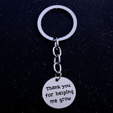 Thank You Gift 'Thank You For Helping Me Grow' Keyring Key Ring Gift Teacher New