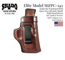 SHADO Leather Holster USA Elite Model M&PC-143 Right Hand Brown IWB S&W M&P
