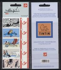 "Belgium**TINTIN ""IN DANGER""-VERY RARE 5 DUOSTAMPS-Polar Bear-Shark-2008-MNH"