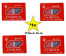 """NEW 2 Deck Poker Plastic Playing Cards by ROYAL """"REDs"""" Waterproof 4 Sets/8 Decks"""