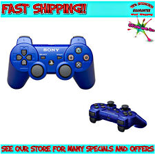 GENUINE SONY BLUE SixAxis DualShock Wireless Controller For (Playstation 3, PS3)