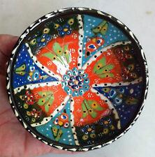 Turkish Ceramic Iznik Tile Bowl Porcelain Kutahya Art 12 cm Embossed Handmade-15