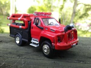 CUSTOM 1/87 HO GMC TOPKICK C8500 PUMPER FIRE BRUSH TRUCK NEAT CUSTOM LOOK!!!