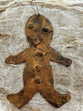 Primitive Colonial Wax Dipped Cinnamon Dusted Gingerbread BoyOrnament