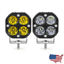 40W 3in LED Work Light Bar Spot Pods Yellow White Driving Fog SUV 4WD Offroad US
