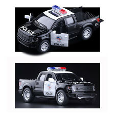 Ford F150 SVT Raptor Supercrew Police Pickup Vehicle Model Diecast Truck Car Toy