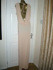 18 TALL ASOS PEACH MAXI DRESS BACKLESS COWL WEDDING SUMMER HOLIDAY EXTRA TALL