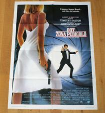 007 ZONA PERICOLO poster manifesto The Living Daylights Timothy Dalton Bond 1987
