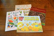 LOT 4, FROM SEED TO PUMPKIN, YEAR AT MAPLE HILL, OVER IN MEADOW, EARTHWORMS -NEW