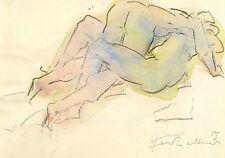 GERHARD KETTNER - Liebesszene - Bleistift & Aquarell 1989