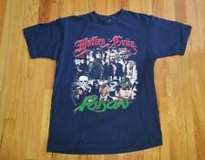 Motley Crue & Poison Summer Tour 2011 T-shirt Blue Double Sided SEE MEASUREMENTS