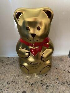 Lindt Chocolate Tin Teddy Money Box