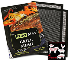 PhatMat Grill Mat 2 Pack Non Stick Grilling and BBQ Mesh Best Accessories NEW