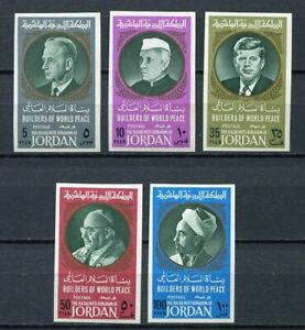 29702) Jordan 1967 MNH New Builders Of World Peace 5v Imperforated
