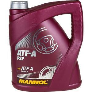 4 Liter Original MANNOL Hydrauliköl ATF-A PSF Hydraulic Fluid Oil