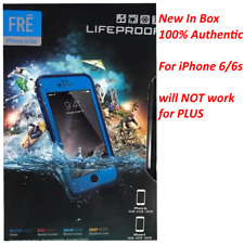 LifeProof Fre for iPhone 6 6s Case Cover Blue Waterproof Shockproof Express Smooth Black