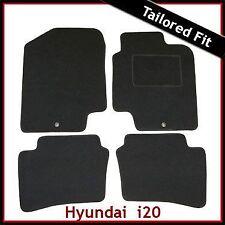 Hyundai i20 Mk1 2008-2014 2-eyelets Tailored Fitted Carpet Car Floor Mats BLACK
