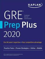 GRE prep plus 2020: practice tests + proven strategies + online + video + mobile