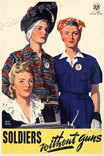 1940s Soldiers Without Guns WWII Historic War Poster - 16x24