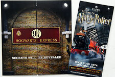 MAKING OF HARRY POTTER STUDIO TOUR LEAFLETS HOGWARTS EXPRESS PLATFORM 9 3/4