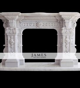 HOME VISIT MEASURE AND QUOTE Bespoke Solid Marble Fireplace Fire Surround Mantle