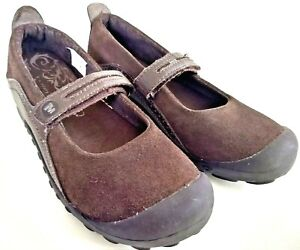 Merrell Plaza Bandeau Kids Youth Size 6 Dark Brown Slip-On Walking MJ Strap Shoe