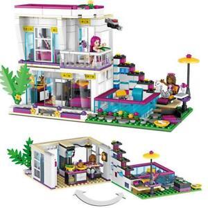 760PCS Pop Star Livi's House Building Block Friends Bausteine Spielzeug'Geschenk
