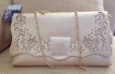 NWT DISNEY STORE CINDERELLA ADULT PURSE SHOULDER BAG CLUTCH BUTTERFLY CLASP