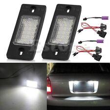 1Pair LED Number License Plate Light Lamp Bulb For Porsche Cayenne VW Touareg