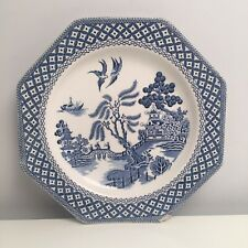 Royal Staffordshire J&G Meakin Willow Ironstone Octagonal Blue & White Plate