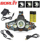 BORUiT 13000lm 3xXM-L T6 LED Headlamp USB Rechargeable Head Light Torch 2x18650