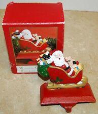 Windsor Collection Christmas Stocking Holder Hanger Santa Sleigh Cast Iron Base