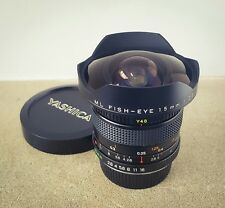 RARE YASHICA ML Fisheye 15 mm Extreme-Wide Angle Lens. BELLA. condizione top.
