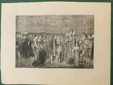 Mariage de Napoléon et Marie-Louise, gravure d'après Rouget, XIXème siècle