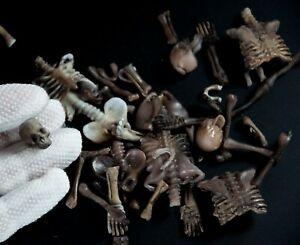 Big pile of bones 1:12 scale miniature skeleton death dead skull bunch for dolls