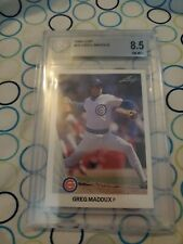 1990 Leaf - Greg Maddux - #25 - Chicago Cubs - BGS 8.5 NM-MT+