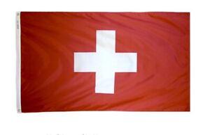 Annin Flagmakers SWITZERLAND Nylon Flag 3' X 5' Brass Grommets NEW IN BOX