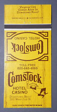 Comstock Hotel Casino - Reno, Nevada Matchbook Cover